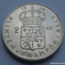Monedas antiguas de Europa: SUECIA REINADO DE GUSTAF VI ADOLF, 2 CORONAS 1954 DE PLATA.. Lote 220722155