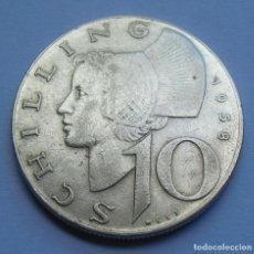 Monedas antiguas de Europa: AUSTRIA 10 CHELINES 1958 PLATA.. Lote 220724612