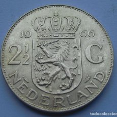 Monedas antiguas de Europa: HOLANDA 2 1/2 GULDEN (FLORINES) 1966 PLATA. Lote 220724936