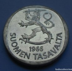Monedas antiguas de Europa: FINLANDIA 1 MARCO 1966 PLATA. Lote 220733923