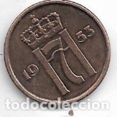 Monedas antiguas de Europa: NORUEGA,2 ORE 1953.. Lote 221161291