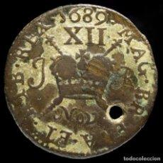 Monedas antiguas de Europa: JACOBO II, 12 PENIQUES IRLANDA 1689 - 25 MM / 5.63 GR.. Lote 221712873