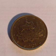 Monedas antiguas de Europa: 50 CÉNTIMOS DE ITALIA 2002. Lote 221733737