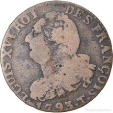 Monedas antiguas de Europa: MONEDA, FRANCIA, 6 DENIERS FRANÇOIS, 6 DENIERS, 1793, NANTES, BC+, BRONCE. Lote 221878950