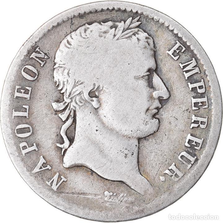 MONEDA, FRANCIA, NAPOLÉON I, FRANC, 1808, PARIS, BC+, PLATA, KM:682.1 (Numismática - Extranjeras - Europa)