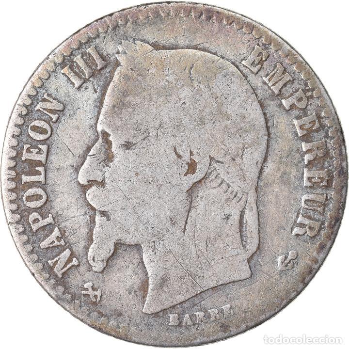 MONEDA, FRANCIA, NAPOLEON III, NAPOLÉON III, 50 CENTIMES, 1866, BORDEAUX, BC+ (Numismática - Extranjeras - Europa)