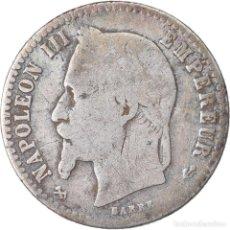 Monedas antiguas de Europa: MONEDA, FRANCIA, NAPOLEON III, NAPOLÉON III, 50 CENTIMES, 1866, BORDEAUX, BC+. Lote 221882916