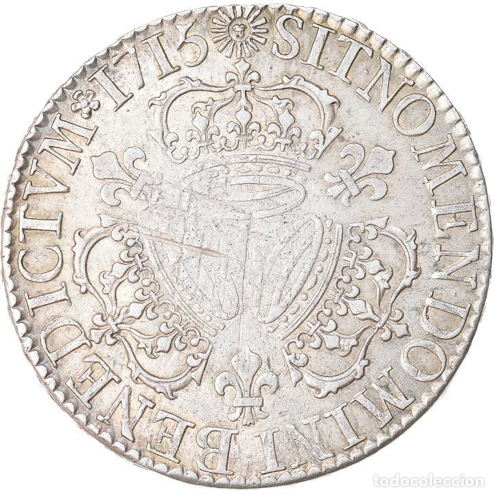 Monedas antiguas de Europa: Moneda, Francia, Louis XIV, Écu aux 3 couronnes, Ecu, 1715, Paris, MBC, Plata - Foto 2 - 221882917