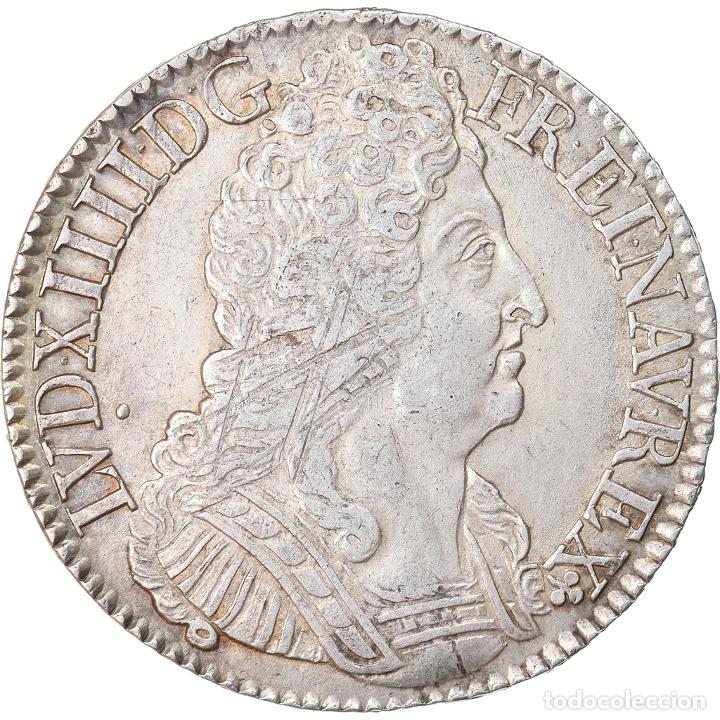 MONEDA, FRANCIA, LOUIS XIV, ÉCU AUX 3 COURONNES, ECU, 1715, PARIS, MBC, PLATA (Numismática - Extranjeras - Europa)