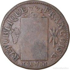 Monedas antiguas de Europa: MONEDA, FRANCIA, SOL AUX BALANCES FRANÇOISE, 1793, BAYONNE, BC, BRONCE. Lote 221883081