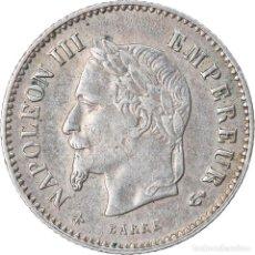 Monedas antiguas de Europa: MONEDA, FRANCIA, NAPOLEON III, NAPOLÉON III, 20 CENTIMES, 1867, PARIS, MBC+. Lote 221883082