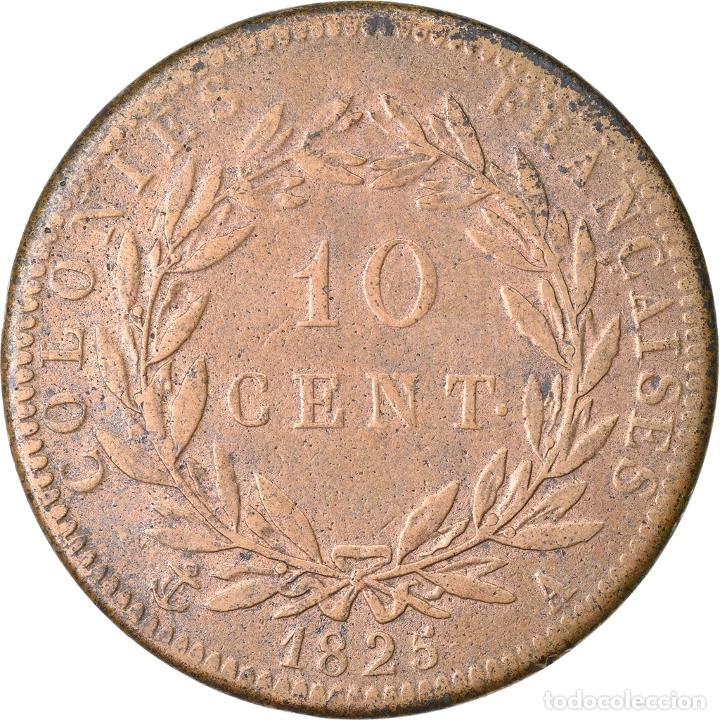 Monedas antiguas de Europa: Moneda, COLONIAS FRANCESAS, Charles X, 10 Centimes, 1825, Paris, MBC, Bronce - Foto 2 - 221883400