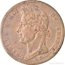 Monedas antiguas de Europa: MONEDA, COLONIAS FRANCESAS, CHARLES X, 10 CENTIMES, 1825, PARIS, MBC, BRONCE. Lote 221883400