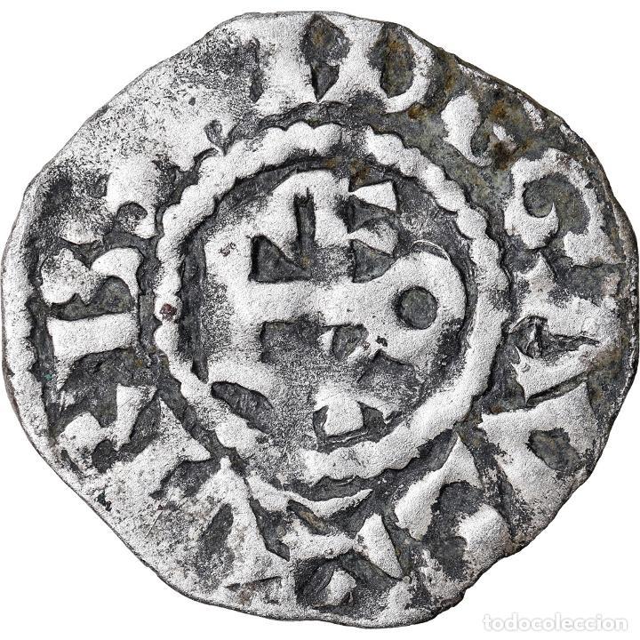 MONEDA, FRANCIA, ANJOU, FOULQUES IV, DENARIUS, ANGERS, BC+, PLATA, BOUDEAU:152 (Numismática - Extranjeras - Europa)