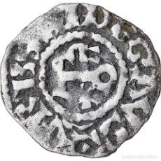 Monedas antiguas de Europa: MONEDA, FRANCIA, ANJOU, FOULQUES IV, DENARIUS, ANGERS, BC+, PLATA, BOUDEAU:152. Lote 221883777