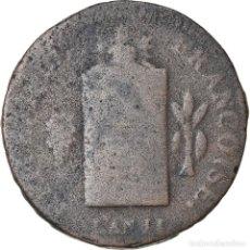 Monedas antiguas de Europa: MONEDA, FRANCIA, 2 SOLS AUX BALANCES NON DATÉ, 2 SOLS, 1793, STRASBOURG, BC. Lote 221887562