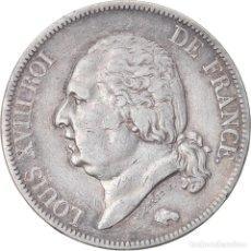 Monedas antiguas de Europa: MONEDA, FRANCIA, LOUIS XVIII, LOUIS XVIII, 5 FRANCS, 1821, PARIS, MBC, PLATA. Lote 221888698
