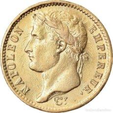 Monedas antiguas de Europa: MONEDA, FRANCIA, NAPOLÉON I, 20 FRANCS, 1808, PARIS, ERROR CLASHED DIE, MBC+. Lote 221889116