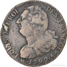 Monedas antiguas de Europa: MONEDA, FRANCIA, 2 SOLS FRANÇOIS, 2 SOLS, 1792, PARIS, BC+, BRONCE, KM:603.1. Lote 221889645