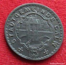 Monedas antiguas de Europa: CALW WURTTEMBERG 10 PFENNIG 1918 ZINC NOTGELD 654. Lote 221948796