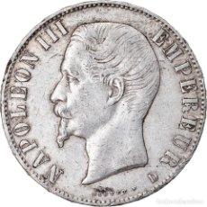 Monedas antiguas de Europa: MONEDA, FRANCIA, NAPOLEON III, NAPOLÉON III, 5 FRANCS, 1856, LYON, BC+, PLATA. Lote 221949046