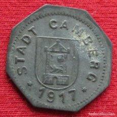 Monedas antiguas de Europa: CAMBERG HESSE-NASSAU 5 PFENNIG 1917 ZINC NOTGELD 393. Lote 221949065