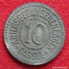 Monedas antiguas de Europa: CASSEL LAGER HESSE-NASSAU 10 PFENNIG ND ZINC NOTGELD 750. Lote 221949281