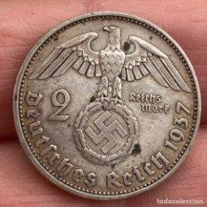 Monedas antiguas de Europa: 2 MARCOS 1937 A ALEMANIA MONEDA DE PLATA 8 G LEY 625. Lote 221949585