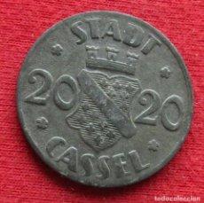 Monedas antiguas de Europa: CASSEL HESSE-NASSAU 20 PFENNIG 1920 NOTGELD 982. Lote 221949866