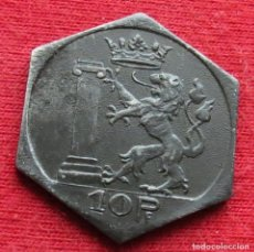 Monedas antiguas de Europa: SAULGAU WURTTEMBERG 10 PFENNIG 1918 NOTGELD 478. Lote 221950025