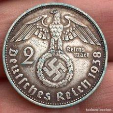 Monedas antiguas de Europa: 2 MARCOS 1938 E ALEMANIA MONEDA DE PLATA 8 G LEY 625. Lote 221950281