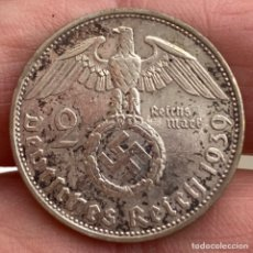 Monedas antiguas de Europa: 2 MARCOS 1939 A ALEMANIA MONEDA DE PLATA 8 G LEY 625. Lote 221950431