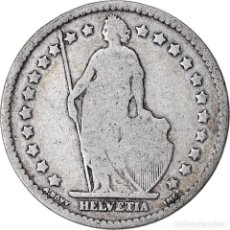 Monedas antiguas de Europa: MONEDA, SUIZA, FRANC, 1886, BERN, BC+, PLATA, KM:24. Lote 221950845