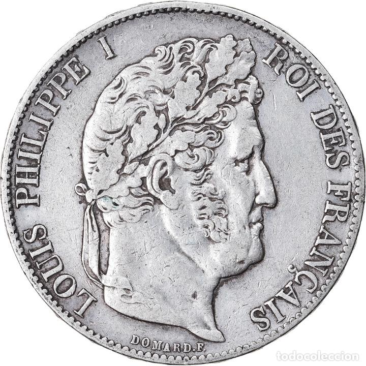 MONEDA, FRANCIA, LOUIS-PHILIPPE, 5 FRANCS, 1848, PARIS, MBC, PLATA, KM:749.1 (Numismática - Extranjeras - Europa)
