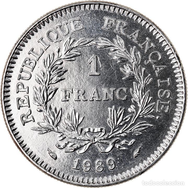 Monedas antiguas de Europa: Moneda, Francia, 1 Franc, 1989, SC, Níquel, KM:967, Gadoury:477 - Foto 2 - 221980350