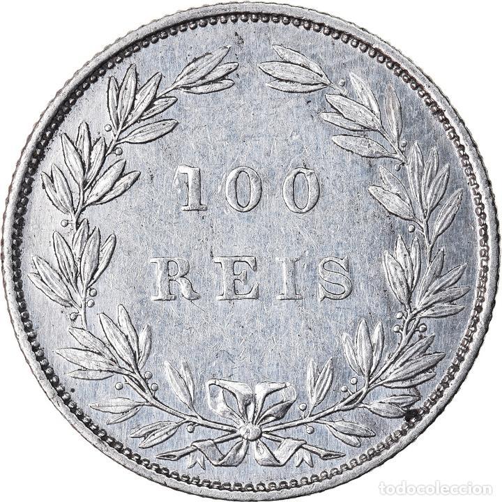 Monedas antiguas de Europa: Moneda, Portugal, Luiz I, 100 Reis, 1889, MBC+, Plata, KM:510 - Foto 2 - 221980555