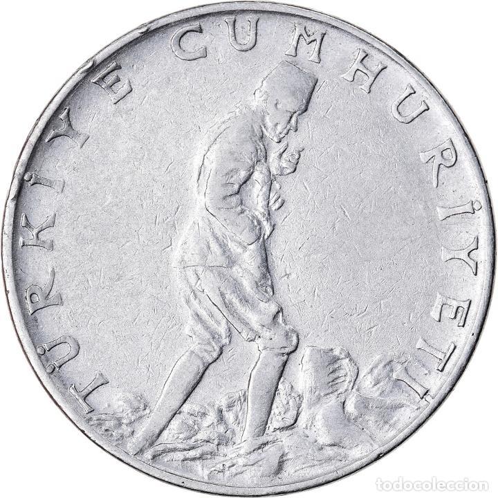 MONEDA, TURQUÍA, 2-1/2 LIRA, 1961, MBC, ACERO INOXIDABLE, KM:893.1 (Numismática - Extranjeras - Europa)