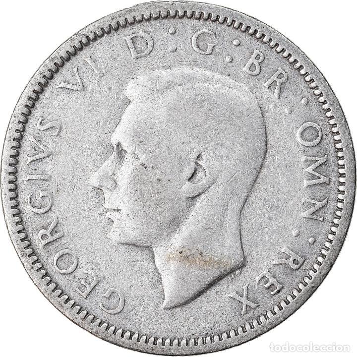 MONEDA, GRAN BRETAÑA, GEORGE VI, 6 PENCE, 1946, BC+, PLATA, KM:852 (Numismática - Extranjeras - Europa)
