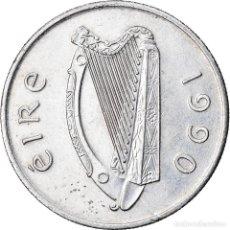 Monedas antiguas de Europa: MONEDA, REPÚBLICA DE IRLANDA, 5 PENCE, 1990, MBC, COBRE - NÍQUEL, KM:22. Lote 221984176