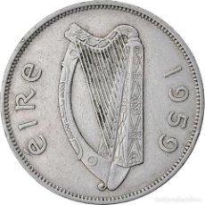 Monedas antiguas de Europa: MONEDA, REPÚBLICA DE IRLANDA, 1/2 CROWN, 1959, MBC, COBRE - NÍQUEL, KM:16A. Lote 221985160