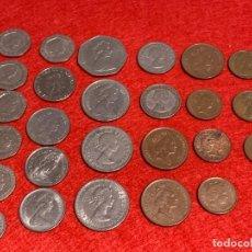 Monedas antiguas de Europa: 26 MONEDAS REINO UNIDO - INTERESANTES - GIJONBANK. Lote 222003103