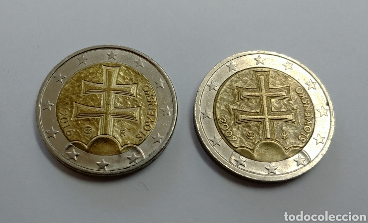 2 MONEDAS DE 2 € DE ESLOVAQUIA (Numismática - Extranjeras - Europa)