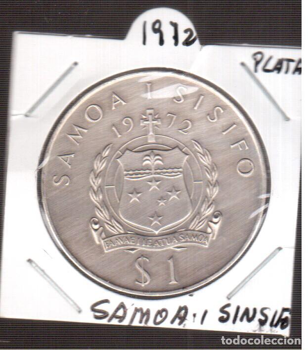 MONEDA DE EUROPA SAMOA PARECE PLATA DE 1972 (Numismática - Extranjeras - Europa)