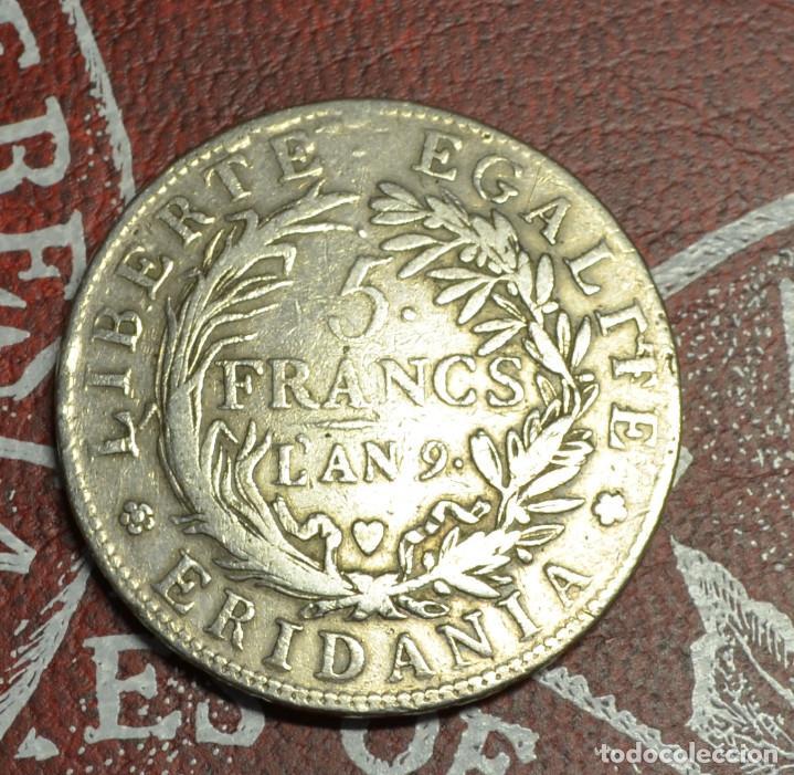 Monedas antiguas de Europa: Italia - Galia Subalpine - 5 francs An 9 1801/1802 - Foto 2 - 222535158