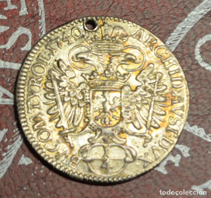 Monedas antiguas de Europa: AUSTRIA - 1/4 THALER - CHARLES VI - 1740 - Foto 2 - 222535882