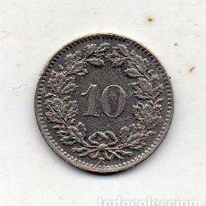 Monedas antiguas de Europa: SUIZA. 10 CÉNTIMOS. AÑO 1946. Lote 222587291