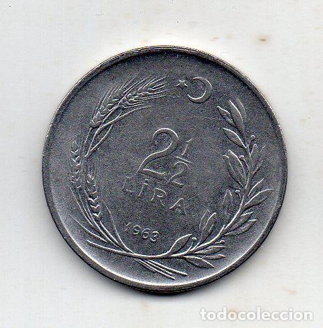 Monedas antiguas de Europa: Turquia. 2.50 Liras. Año 1963 - Foto 2 - 222704792