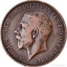 Monedas antiguas de Europa: MONEDA, GRAN BRETAÑA, GEORGE V, 1/2 PENNY, 1911, MBC, BRONCE, KM:809. Lote 222721970