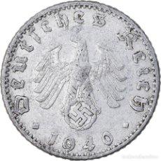 Monedas antiguas de Europa: MONEDA, ALEMANIA - TERCER REICH, 50 REICHSPFENNIG, 1940, BERLIN, BC+, ALUMINIO. Lote 222722008