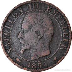 Monedas antiguas de Europa: MONEDA, FRANCIA, NAPOLEON III, 5 CENTIMES, 1854, PARIS, BC+, BRONCE, GADOURY:152. Lote 222722305